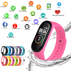 M4 relógio inteligente esportivo, pulseira de fitness, monitorador de atividade, pedômetro, monitoramento de frequência cardíaca, monitoramento de pressão arterial, relógio de pulso