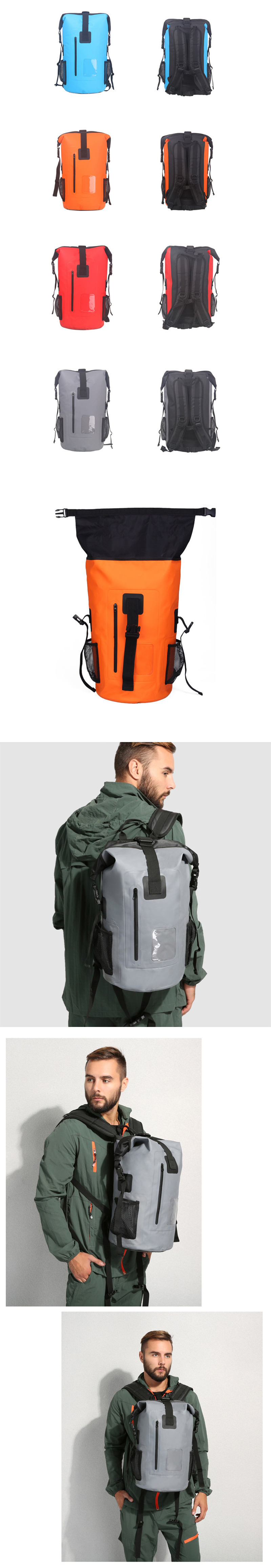 Waterproof DryBag Sac à dos 30 L tuffbag-Roll Top-commute//Voyage//Moto