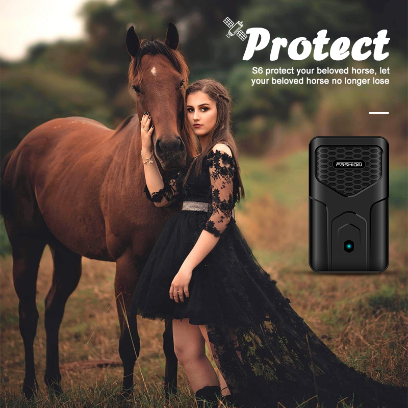 Horse GPS Tracker Real time tracking Historical track Security fence 12000mAh 60 days long standby GSM 2G Locator image