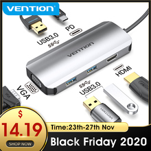 Vention typ C Hub USB C na HDMI USB 3.0 HUB Thunderbolt 3 Adapter do MacBook Samsung S10/9 Huawei Mate 30 P30 Pro USB C HUB