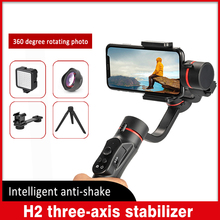 H2 Handheld Gimbal Stabilizer 3 Axis USB Charging Video Record Universal Adjustable Direction Smartphone Vlog Live Action camera feiyu fy spg live 3 axis brushless handheld gimbal stabilizer for gopro5 iphone smartphone