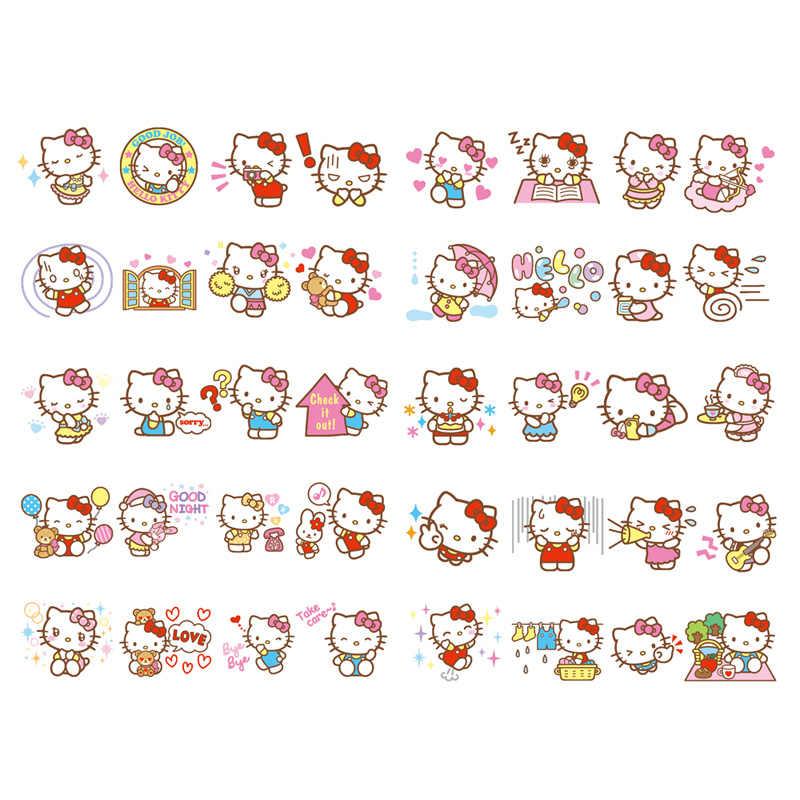27pcs Stamp Set Hello Kitty Sanrio Japan Kawaii Goods Friend in a Cute Case Box