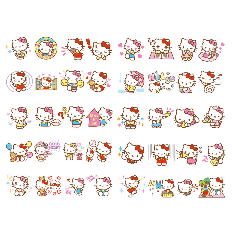 1 PCS Kawaii Japan Sanrio Hello Kitty Paper Sticker Stationery Scrapbooking Diary Label Office Post Bullet Journal Art Supplies(China)