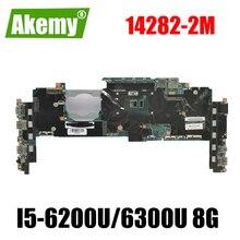 For Lenovo ThinkPad X1 Carbon 4th Gen / X1 Yoga 1st Gen laptop motherboard 14282-2m with CPU I5-6200U/6300U RAM 8G 100% test OK