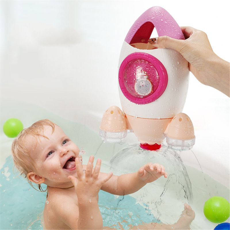 Rocket Bath Toy Rotating Water Spray Baby Wash Hair Useful For Baby Kids  R7RB