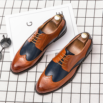 Brand Leather Shoes Men Business Office Mens Shoes Men Luxury Wedding Loafers Fashion Bullock Italy Formal Shoes Big Size vikeduo brown italy derby shoes patina brogue handmade office dress shoes mens footwear wedding business leather shoes zapatos