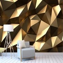 Custom large mural 3D wallpaper Modern creative 3D expansion space golden solid
