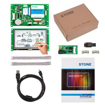 Embedded 4.3 inch HMI Smart TFT LCD Display  Module with RS232/ RS485/ TTL Interface +Touch Screen+Software for Equipment  Use 4 3 inch hmi tft lcd display with serial interface rs232 rs485 ttl for equipment use