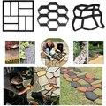 Садовая DIY Пластиковая форма для тротуарной плитки  форма для бетона  дорожный цементный пресс-форма  садовая дорожка  тротуарная форма для ...