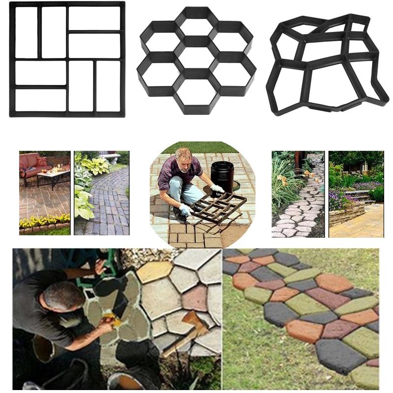 Garden DIY Plastic Path Maker Paving Mould Concrete Molds Form Road Cement Mold Garden Walk Pavement Concrete Moulds For Stone