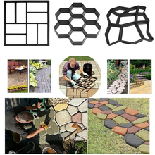 Garden DIY Plastic Path Maker Paving Mould Concrete Molds Form Road Cem