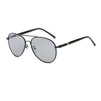 NEW Black/Brown Metal Frame Men Polarized Sunglasses UV400 Driving Glasses For Man With Box