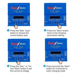 Image 4 - Kebidu imax b6 ac 80 w b6ac lipo nimh equilíbrio carregador de bateria rc digital lcd tela descarregador ue eua fonte alimentação