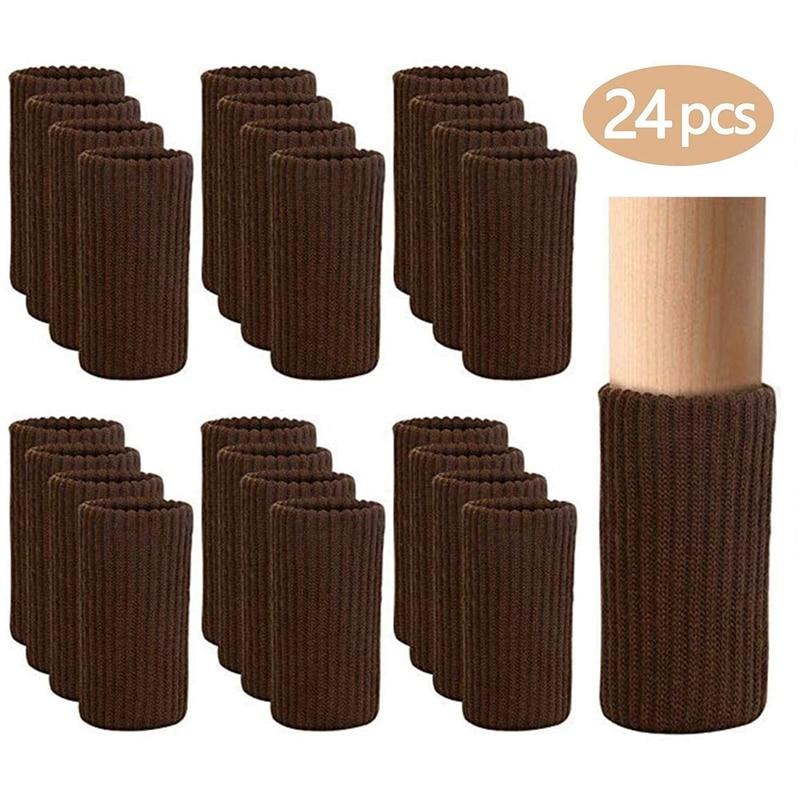 24 шт мебельная ножка носки вязаные для мебели стула защитные