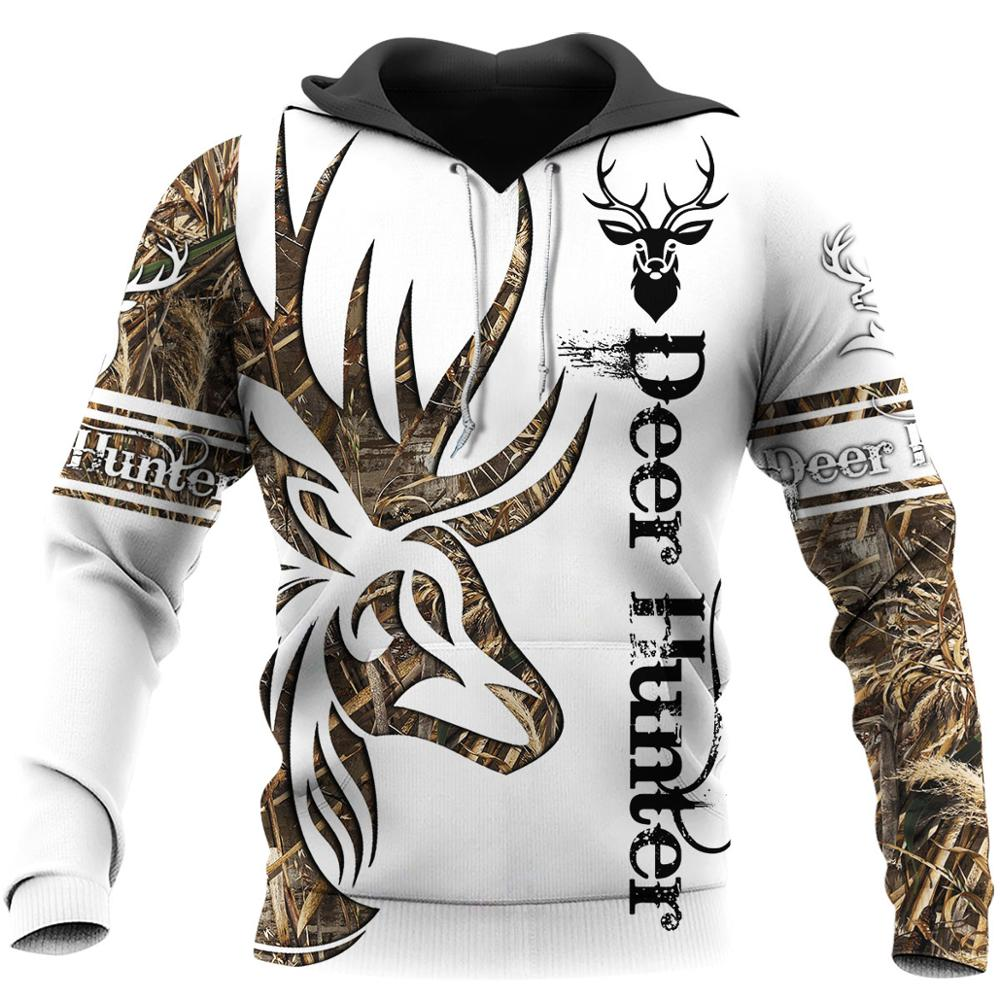 Forest Hunting Deer Tatoo 3D Printed Men Hoodies/sweatshirts Retro Harajuku Fashion Hooded Autumn Hoody Casual Streetwear YS-417