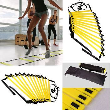 Agility Speed Ladder Stairs Nylon Straps Training Ladders Agile Staircase for Fitness Soccer Football Speed Ladder Equipment недорого