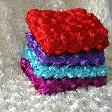 1,5*1 м свадебная трехмерная Роза Ткань 3D цветок знак в скатерти сценический фон ковер вуали вечерние праздничные Декор
