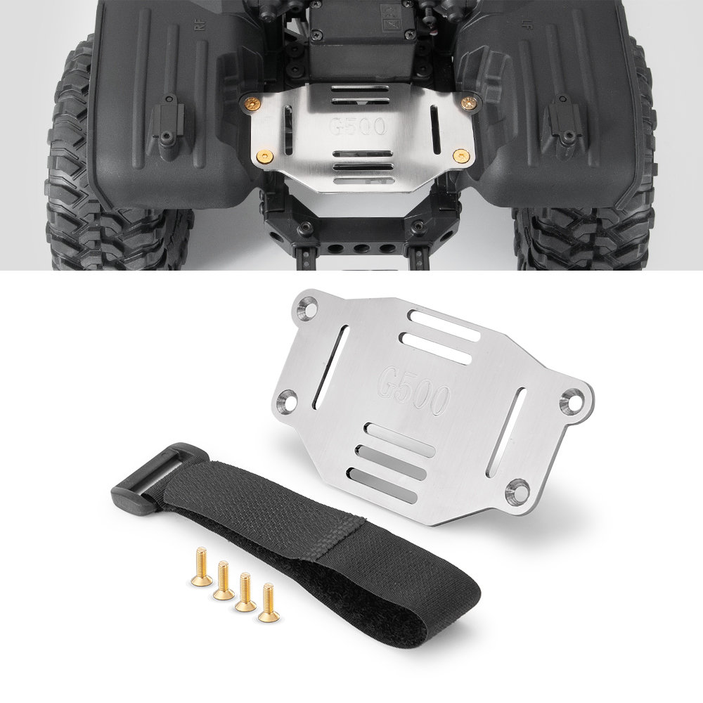 YEAHRU Metal Battery Plate Holder Expanding Board Mount Relocation W/Strap For TRX4 G500 1/10 RC Rock Crawler Car