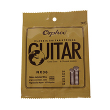 Classical Guitar Strings Jacketed Wire Normal-Tension Replacement Nylon NX36 Orphee 6pcs