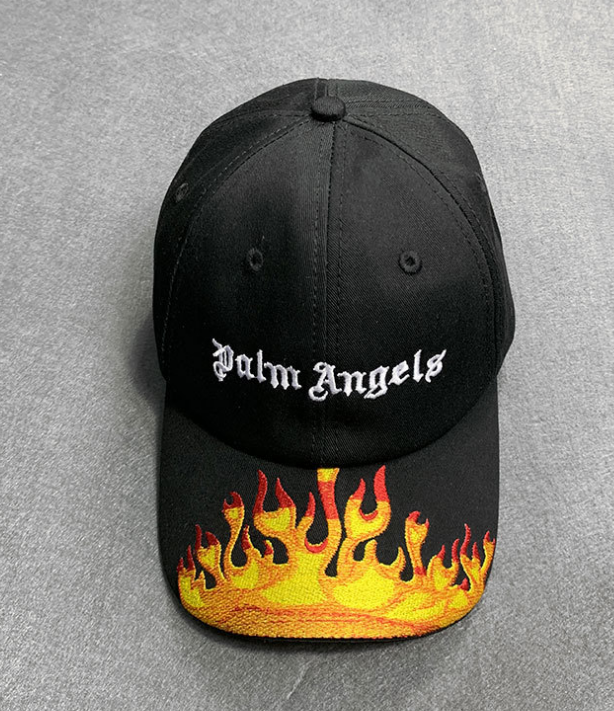 Солнцезащитная шляпа унисекс с вышитым пламенем, солнцезащитный козырек с пальмовыми ангелами