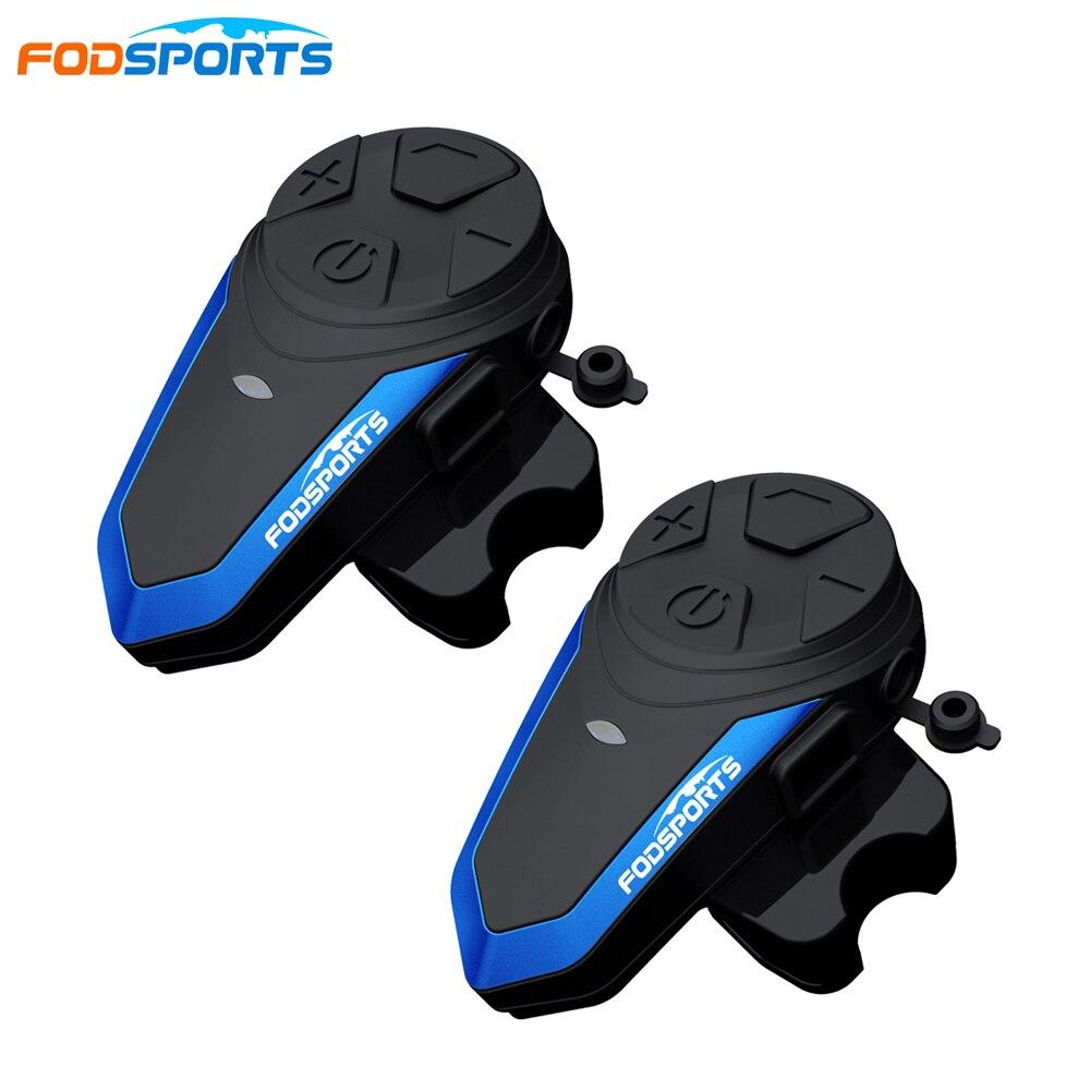 2 pcs Fodsports BT S3 Intercom FM radio waterproof headphones helmet 2 riders motorcycle intercom 1000m bluetooth helmet|Helmet Headsets| |  - title=