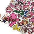 50PCS Nette Cartoon Blutige Gloomy Bear Wand Aufkleber Schalter Schlafzimmer Dekoration Persönlichkeit Wasserdicht Cartoon Graffiti Aufkleber