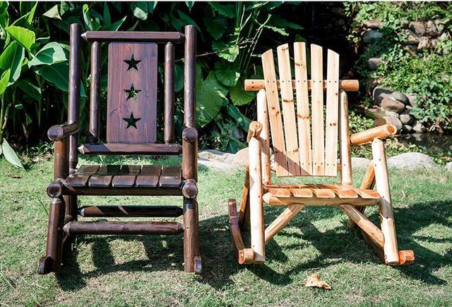 Outdoor  Wooden Rocking Chair  5