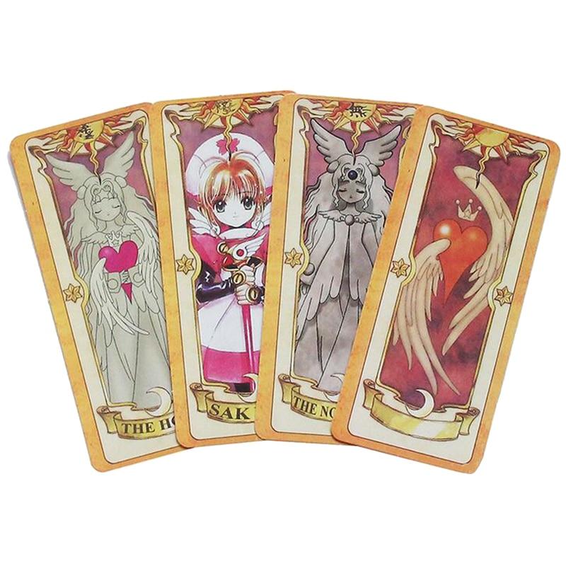 56-Card Sakura Kinomoto Clow Cards Magic Tarot Card 15.9*7.1cm