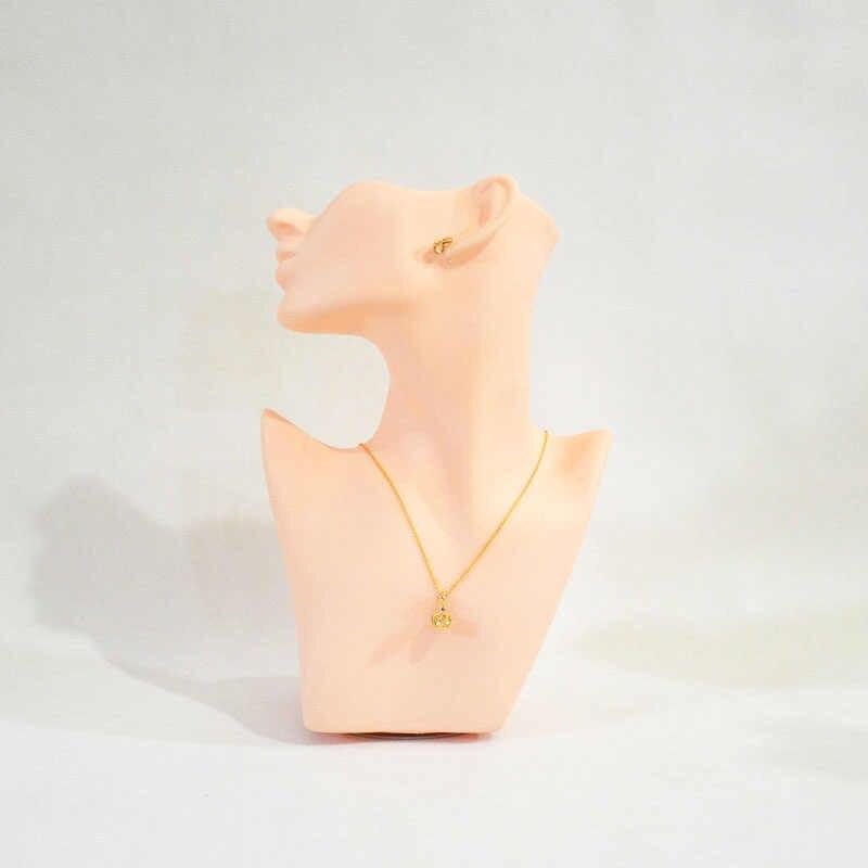 H-0084 manekin głowy stojak na biżuterię głowica podpory uchwyt na kolczyk do biżuterii naszyjnik i kolczyk wyświetlacz