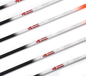 "Image 3 - Linkboy Archery 12PCS Carbon Arrows Sp300 600 Fluorescen Orange 2""Vanes ID6.2mm Compound Bow Hunting Shooting"