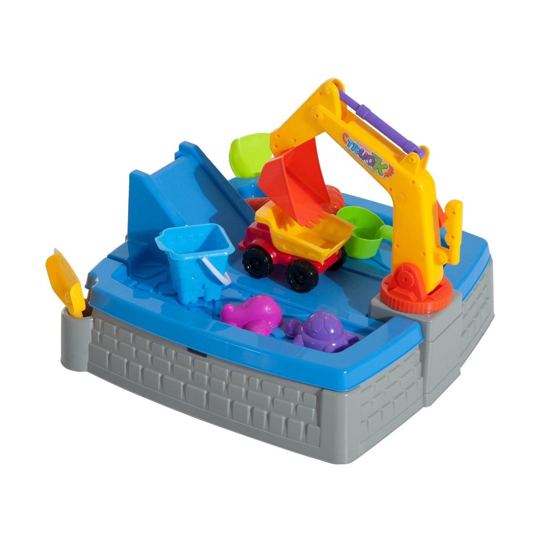 HOMCOM Set Toys Toy 11 Pieces Excavator Children's Beach 49x49x14 Cm