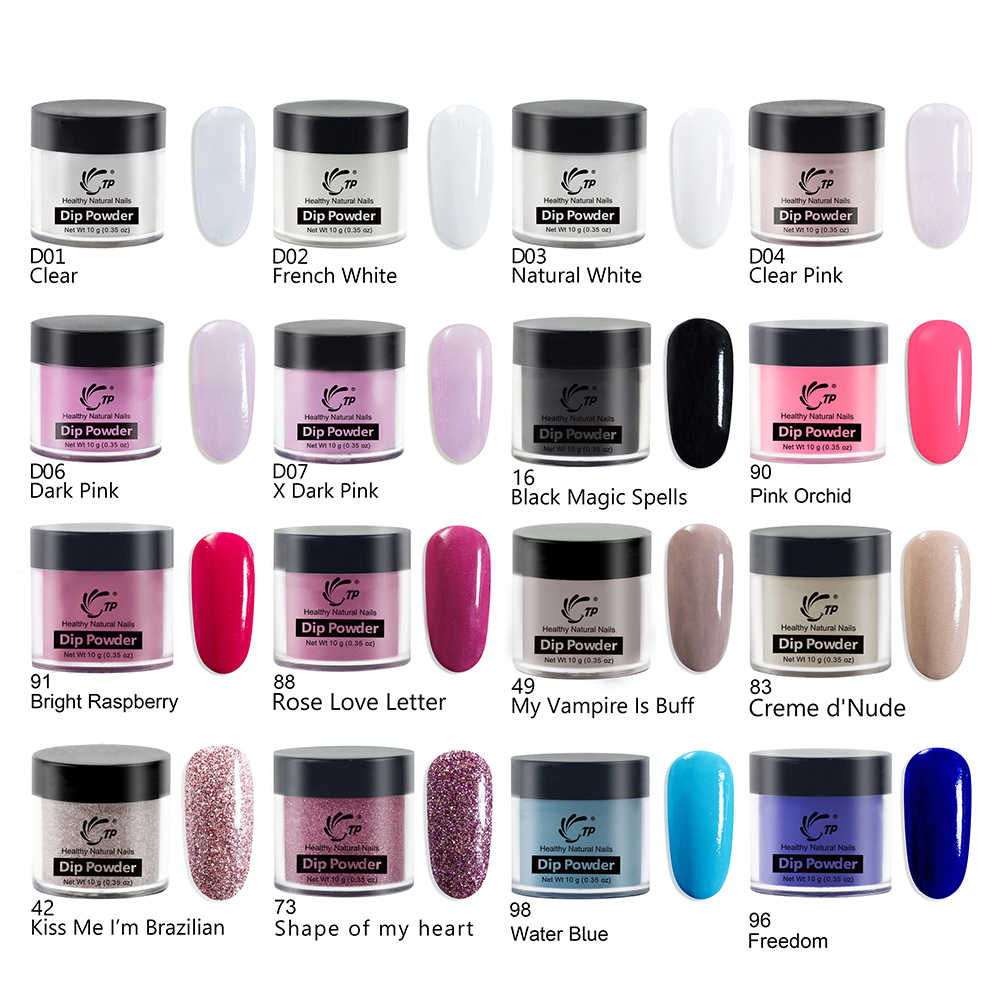 Dip Powder Polish Cure Long-Lasting Clear Red Glitters For Nail art Salon Acrylic Powder Soak Off Liquid Dips Color Dust Pigment