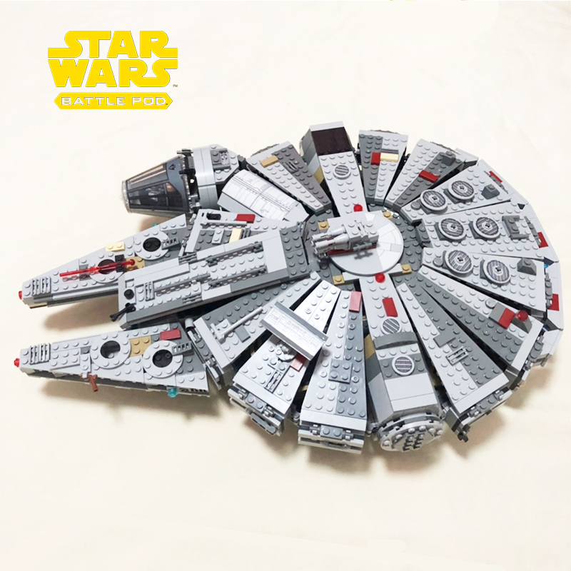 NEW Star Millennium 79211 Falcon Figures Wars Building Blocks Harmless Bricks Enlighten fit Compatible Starwars Toys