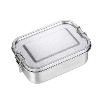 Fiambrera de acero inoxidable, 3/2/1 compartimiento de Metal, fiambrera Bento, contenedor USJ99