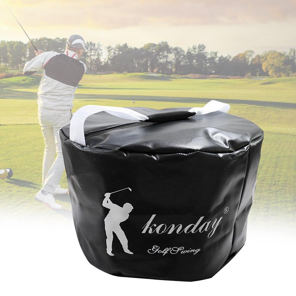 Swing Trainer Strike Bag Exercise Package Black Golf Power Impact Waterproof PVC Lightweight Tool Smash Multi-function Practice