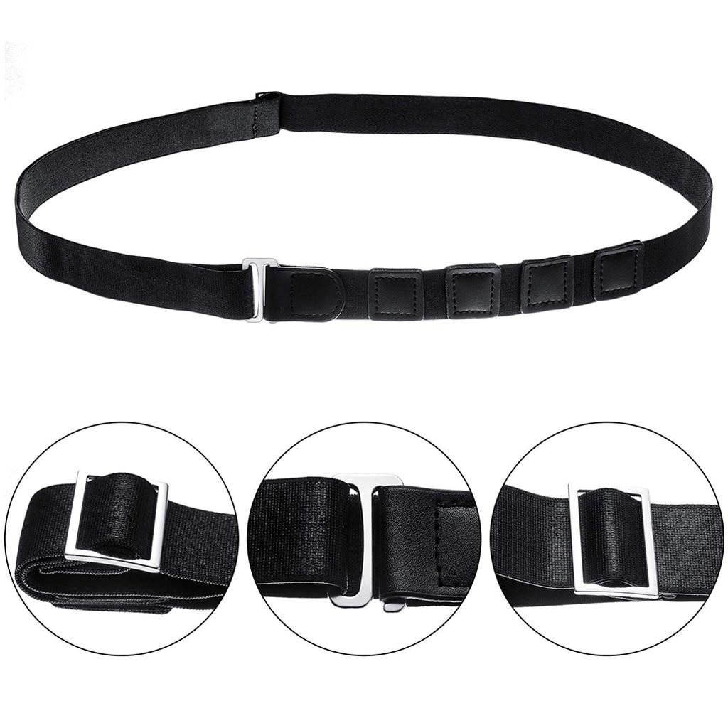 Unisex Shirt Holder Adjustable Near Shirt Stay Best Tuck It Belt For Women Men Work Interview Formal Wearing Dressing Black