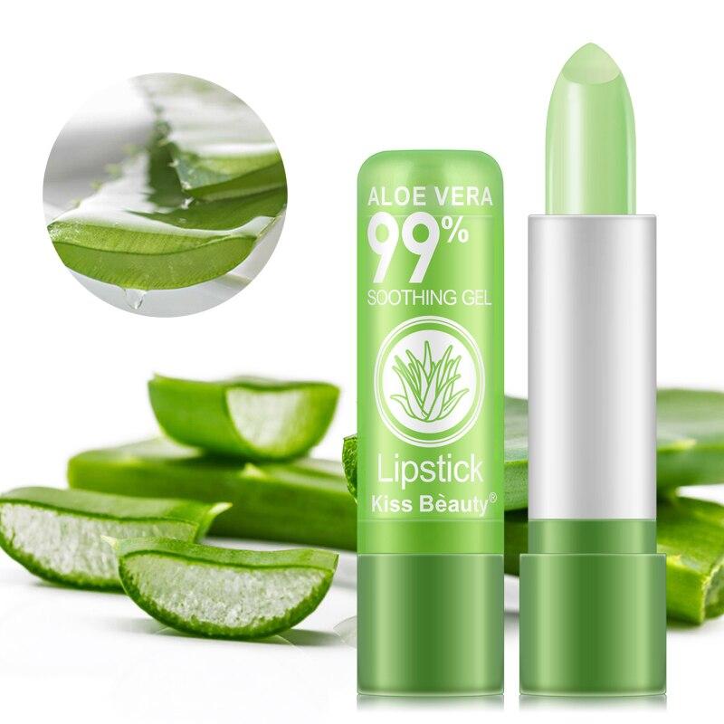 1 PCS Aloe Vera Natural Moisturizer Lipstick Temperature Changed Color Lipbalm Natural Magic Pink Protector Lips Makeup TSLM2 3