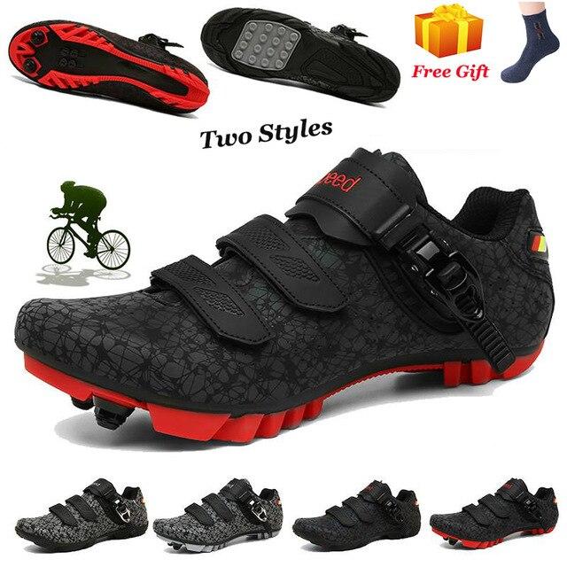 Mtb ciclismo sapatos homem esportes ao ar livre sapaticultura auto-bloqueio antiderrapante tênis de bicicleta de montanha de corrida feminino 1