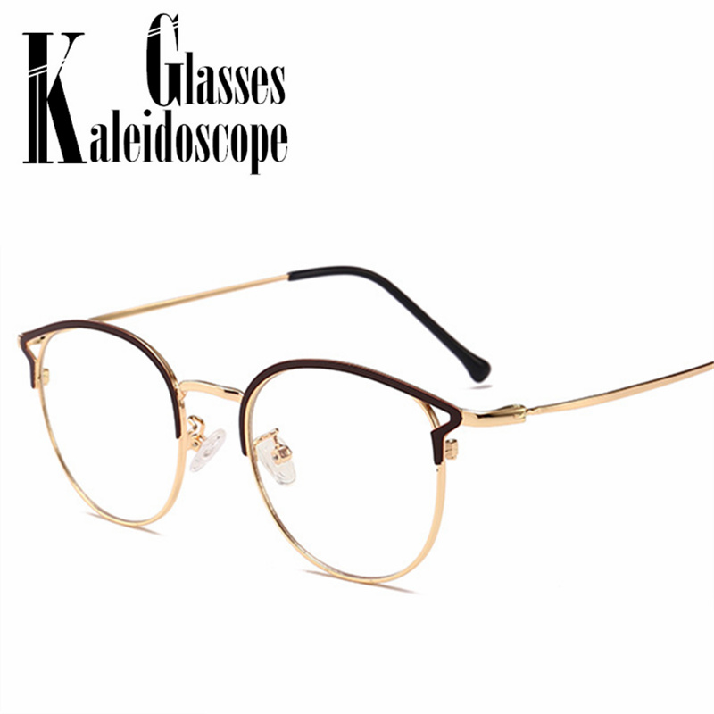 Retro Anti Blue Light Glasses Frame Women Men Brand Cat Eye Myopia Optical Eyeglasses Frames Ladies Spectacles Computer Eyewear