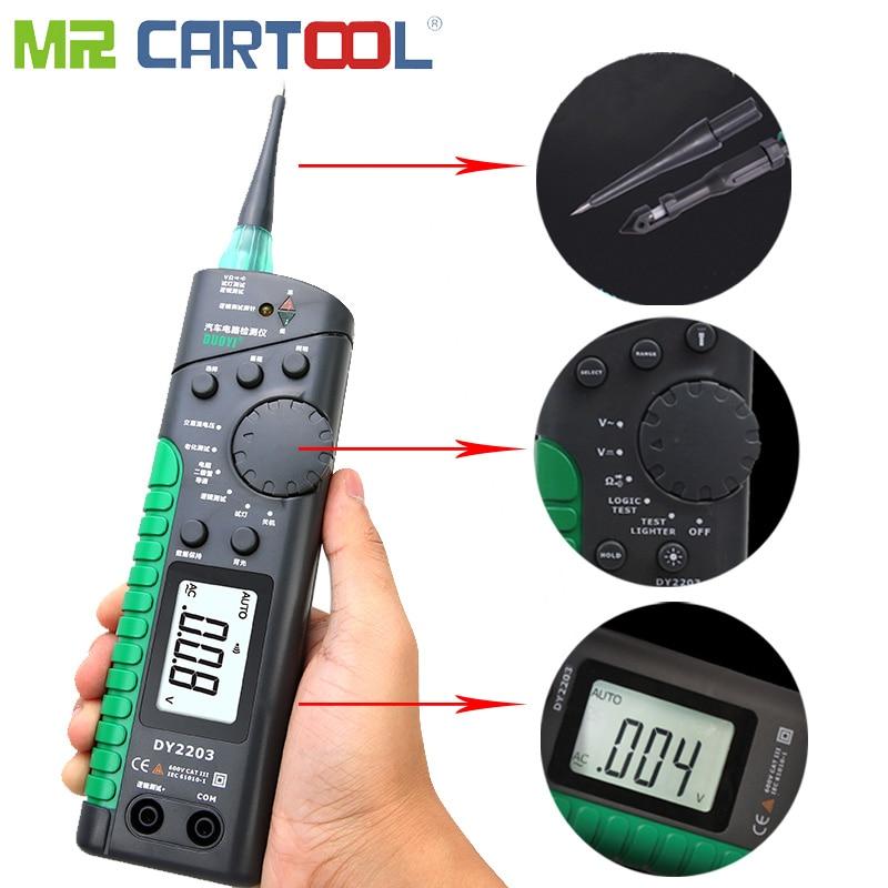 Auto Circuit Tester Car Power Electrical Multimeter Lamp Repair Tool Automotive Electrical Digital Multimeter Logic Test 2V-600V