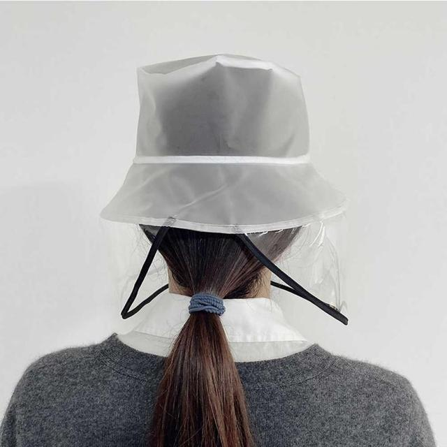 New Fashion Unisex Solid Protection Hat Anti Saliva Cap Face Shield Isolation Face Cover Hats For Outdoor Home Garden Cap 3