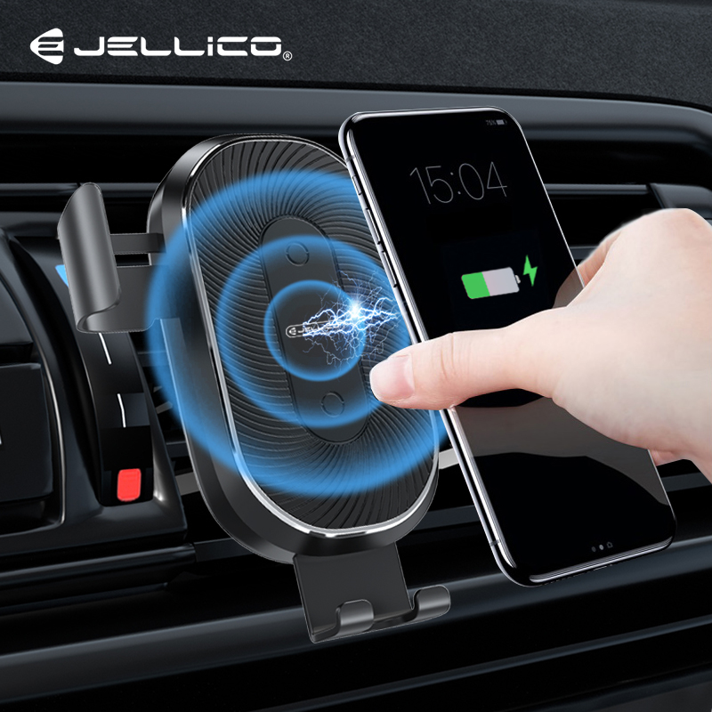 Jellico 10W Wireless Car Charger Air Vent Mount Phone Holder For IPhone 11 Pro Max XS XR 8 7 Fast Charging Phone Holder For Mi