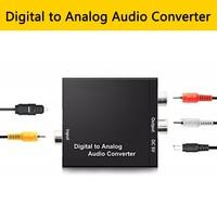 الرقمية البصرية محوري إلى التناظرية RCA L/R محول صوت محول Toslink SPDIF محوري إلى L/R مكبر للصوت ل HDTV بلو راي DVD على