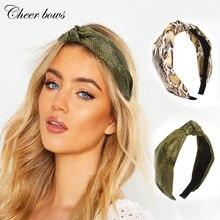 1 шт модные женские резинки для волос змеиный крест повязка