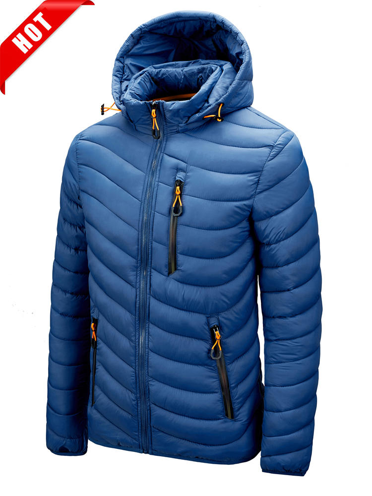 Coat Men Parkas Hooded Slim Jacket CHAIFENKO Autumn Thick Winter Warm Casual Fashion