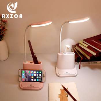 цена на USB Rechargeable LED Desk Lamp Touch Dimming Adjustment Table Lamp For Kids Children Reading Study Bedside Bedroom LED Lamps