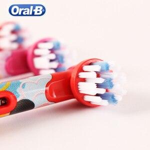 Image 5 - אוראלי B EB10 ילדי מברשת שיניים חשמליות ראשי החלפת קפוא Utral רך שן מברשת ראשי ראשי מברשת להחלפה לילדים