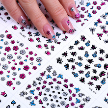 Designs Nail Stickers Set Mixed Floral Geometric Sexy Girl Nail Art Water Transfer Decals Tattoos Sliders Manicure N0019 wuf 10 sheets nail stickers mixed designs water transfer nail art sticker watermark decals diy decoration for beauty nail tools