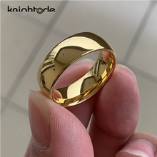 Rings Women Jewelry Wedding-Ring Engagement Dome Classic Gold-Color Tungsten Carbide