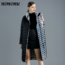 HDHOHR 2019 New High Quality Rex Rabbit Fur Coat Women Two Side to Wear Natural Fur Jacket Fashion Rex Rabbit Fur Coats Female 2018 rex rabbit fur coat girl fur coat wine red natural rabbit fur jacket girl jacket children s wear casual warm clothing